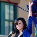 Demi Lovato Filming A Disney Parade In Anaheim, November 9 2009
