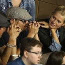 Leonardo DiCaprio, Lukas Haas and Toni Garrn showed up at the 2013 US Open Tennis Championship in New York City yesterday (September 3)