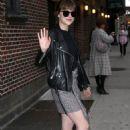 Dakota Johnson outside of Late Show with Stephen Colbert - 454 x 690