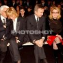 L'Wren Scott, Karl Lagerfeld and Catherine Deneuve at Dior Autumn-Winter 2006-2007 Menswear Fashion Show - Paris, France - 31 January 2006 - 454 x 301