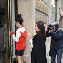 Kim Kardashian and Kanye West out shopping in Paris (June 20)