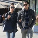 Jesse Metcalfe and his fiance Cara Santana leaving the Kings Road Cafe in West Hollywood,December 28.2012