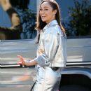 Cara Santana looks stylish in a silver ensemble in LA
