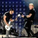 James Hetfield & Robert Trujillo perform onstage at the Rose Bowl on July 29, 2017 in Pasadena, California - 454 x 324