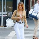 Bella Hadid in White Pants – Out in New York City