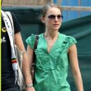 Natalie Portman In Green Top Out In NY, June 5 2008