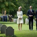 British Royals Visit the St Symphorien Military Cemetery (August 4, 2014)