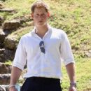 Prince Harry visits the Xunantunich Mayan Temple on Saturday (March 3) in Benque Viejo del Carmen, Belize