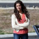 "Ashley Greene - On The ""Apparition"" Set In Palmdale 2010-03-26"