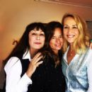 Anjelica Huston, Jade Jagger and Jerry Hall (wearing L'Wren Scott cardigan) in Los Angeles - 2016
