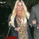 Jessica Simpson in Leopard Print Dress – Out in New York City - 454 x 628