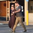 Miley Cyrus and Liam Hemsworth grabbed a bite to eat at Iwata Sushi yesterday, September 24, in Sherman Oaks, CA