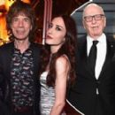 A VERY modern family! Sir Mick Jagger is joined by model daughters Georgia May and Elizabeth, ex-wife Jerry Hall and her new husband Rupert Murdoch at Vanity Fair Oscars party - 454 x 273
