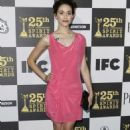 Emmy Rossum Cutens Up the Spirit Awards
