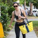 Emmy Rossum Leaving A Gym In West Hollywood