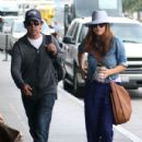 Kate Walsh and her boyfriend arrive at LAX