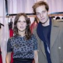 Élodie Navarre and Andy Gillet at Alexis Mabille Fêtes Paris Store Opening
