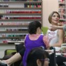 Ashley Greene at the Beverly Hills Nail Salon in Beverly Hills
