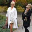 Pamela Anderson arrived at her hotel in Stockholm, Sweden on Thursday October 23, 2014