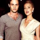 Penn Badgley and Amber Heard