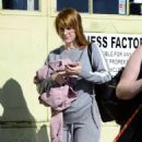 Alice Eve Debuts a new haircut – Leaves a gym in LA - 454 x 568