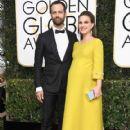 Natalie Portman and Benjamin Millepied : 74th Annual Golden Globe Awards - 419 x 600