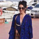 Stephanie Davis and Gabby Allen on a yacht in Marbella - 454 x 681