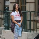 Brittany Snow DeWanda Wise and Gina Rodriguez – On the Set of 'Someone Great' in NY