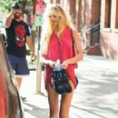 Candice Swanepoel in Shorts Out in New York - 454 x 681