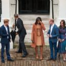 Prince William, Duchess Catherine and Harry dine with President Obama