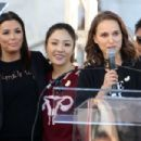 Natalie Portman, Eva Longoria and Constance Wu – 2018 Women's March in Los Angeles - 454 x 303