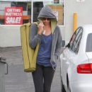 Charlize Theron: went to the Yoga Studio in Los Angeles