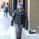 Matt Bellamy does some last minute Christmas shopping on Christmas Eve in Aspen, Colorado on December 24, 2014 - 454 x 549