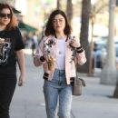 Lucy Hale in jeans shopping at Urban Outfitters in Los Angeles January 28, 2017 - 454 x 687