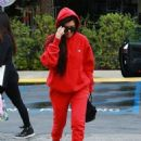 Kourtney Kardashian celebrating a friend's birthday at Lovis Restaurant in Calabasas, California on January 9, 2017 - 454 x 587