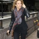 A tired-looking Sheryl Crow fights the wind on 49th Street in New York after performing on SiriusXM radio - 350 x 600