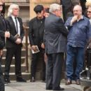 Brian Johnson and Brenda Johnson at the funeral service for AC/DC co-founder Malcolm Young at St Mary's Cathedral on November 28, 2017 in Sydney, Australia - 454 x 298
