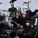 Inductees Ringo Starr and Billie Joe Armstrong of Green Day perform with Sir Paul McCartney and Gary Clark Jr. onstage during the 30th Annual Rock And Roll Hall Of Fame Induction Ceremony at Public Hall on April 18, 2015 in Cleveland, Ohio. - 454 x 302