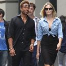 Gary Dourdan and an unidentified blonde woman are spotted walking around Manhattan's Soho neighborhood on September 2, 2016 - 379 x 600
