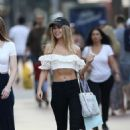 Kimberley Garner in Crop Top and Jeans – Shopping in Miami - 454 x 681
