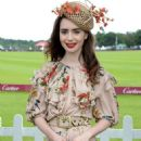 Lily Collins – Cartier Queens Cup Polo in Windsor