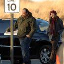 Famke Janssen - Filming 'Kiddie Ride' In New Jersey, 16.02.2008.
