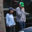 Mila Kunis and Ashton Kutcher – Leaves Joans On Third in Studio City
