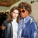 Kaia Gerber and Naomi Campbell – Backstage Sacai Fashion Show in Paris