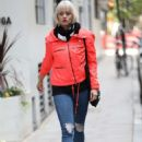 Kimberly Wyatt in Red Jacket – Out in London - 454 x 665