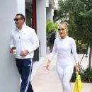 Jennifer Lopez in White Tights with Alex Rodriguez at a Gym in Miami - 454 x 649