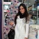 Jimena Navarrete - Shopping at Swatch in Times Square, New York - 2010-12-17