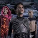 (L-r) Taylor Dooley, Taylor Lautner and Cayden Boyd in Dimension Films' action adventure 'The Adventures of Shark Boy & Lava Girl in 3-D'.