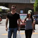 Megan Fox and Brian Austin Green groceries shopping at Gelson's in Glendale  CA  07/02/2010
