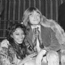 Donyale Luna and Brian Jones  during the filming of the Rolling Stones Rock & Roll Circus, December 1968 - 454 x 420
